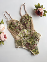Salim Bodysuit Green Forest Motif