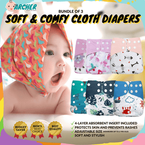 Soft & Comfy Diapers ( Inserts Included ) Cloth Diaper