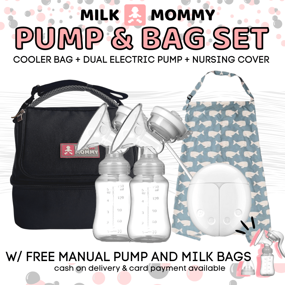 Pump & Bag Set : Free Breast Milk Storage Bags Breast Pump