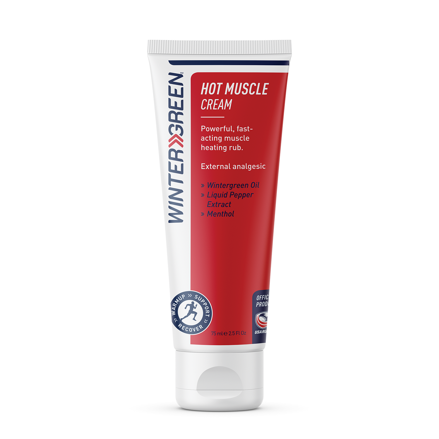 Wintergreen Hot Muscle Cream tube