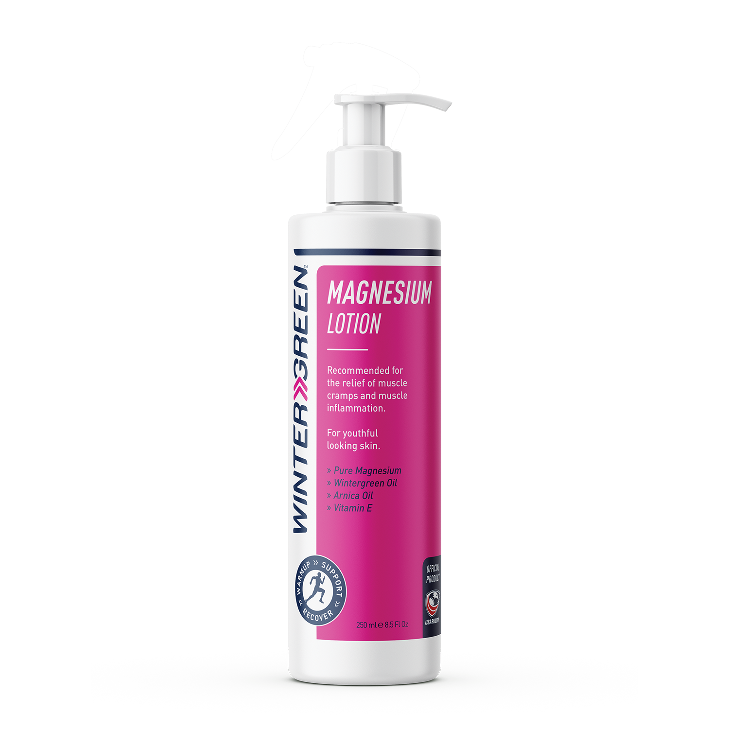 Wintergreen Magnesium Lotion with dispenser pump