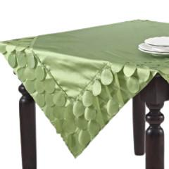 "SARO CIRCLE DESIGN TOPPER LIME 60"" SQ SARO"