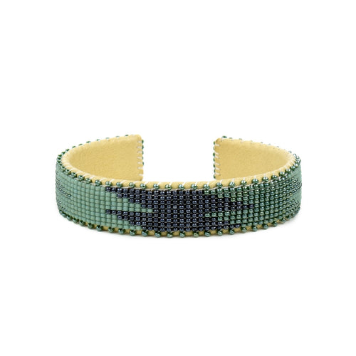 ETKIE OCEAN SMALL GLASS BEAD CUFF ETKIE