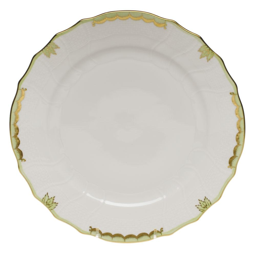 HEREND PRINCESS VICTORIA GREEN DINNER PLATE HEREND