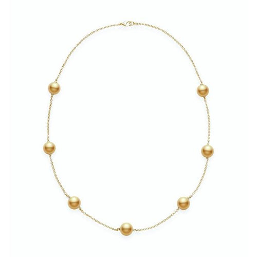 MIKIMOTO CHAIN PEARL NECKLACE GSSP A+ 9MM 18KYG MIKIMOTO
