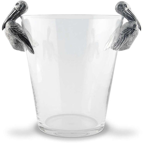 VAGABOND HOUSE PELICAN HANDLE GLASS ICE BUCKET VAGABOND HOUSE