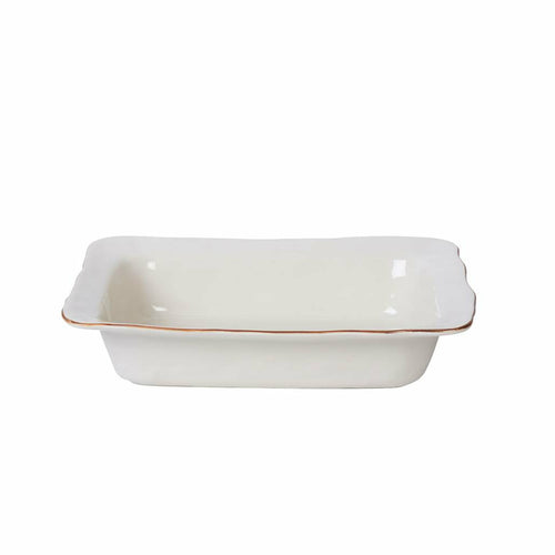 SKYROS CANTARIA WHITE MEDIUM RECTANGLE BAKER SKYROS