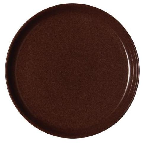 DENBY STUDIO CRAFT WALNUT MEDIUM COUPE PLATE DENBY