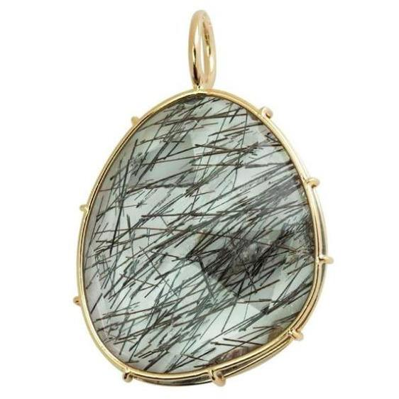 BLACK RUTILATED QUARTZ HARRIET STONE HEATHER B. MOORE