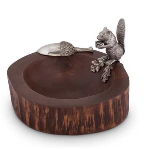 VAGABOND HOUSE STANDING SQUIRREL NUT BOWL WITH SCOOP VAGABOND HOUSE