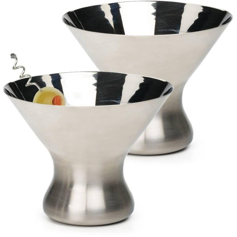 RSVP STAINLESS STEMLESS MARTINI GLASS