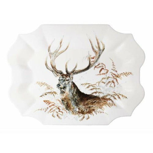 GIEN SOLOGNE STAG SERVING PLATTER Gien France