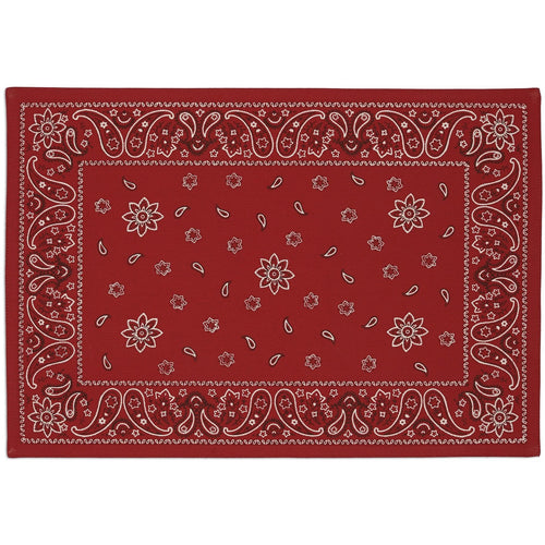 DESIGN IMPORTS RED BANDANA PRINTED PLACEMAT DESIGN IMPORTS