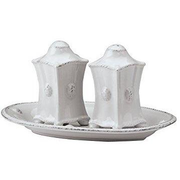 JULISKA BERRY & THREAD WHITE SALT & PEPPER SHAKER SET JULISKA