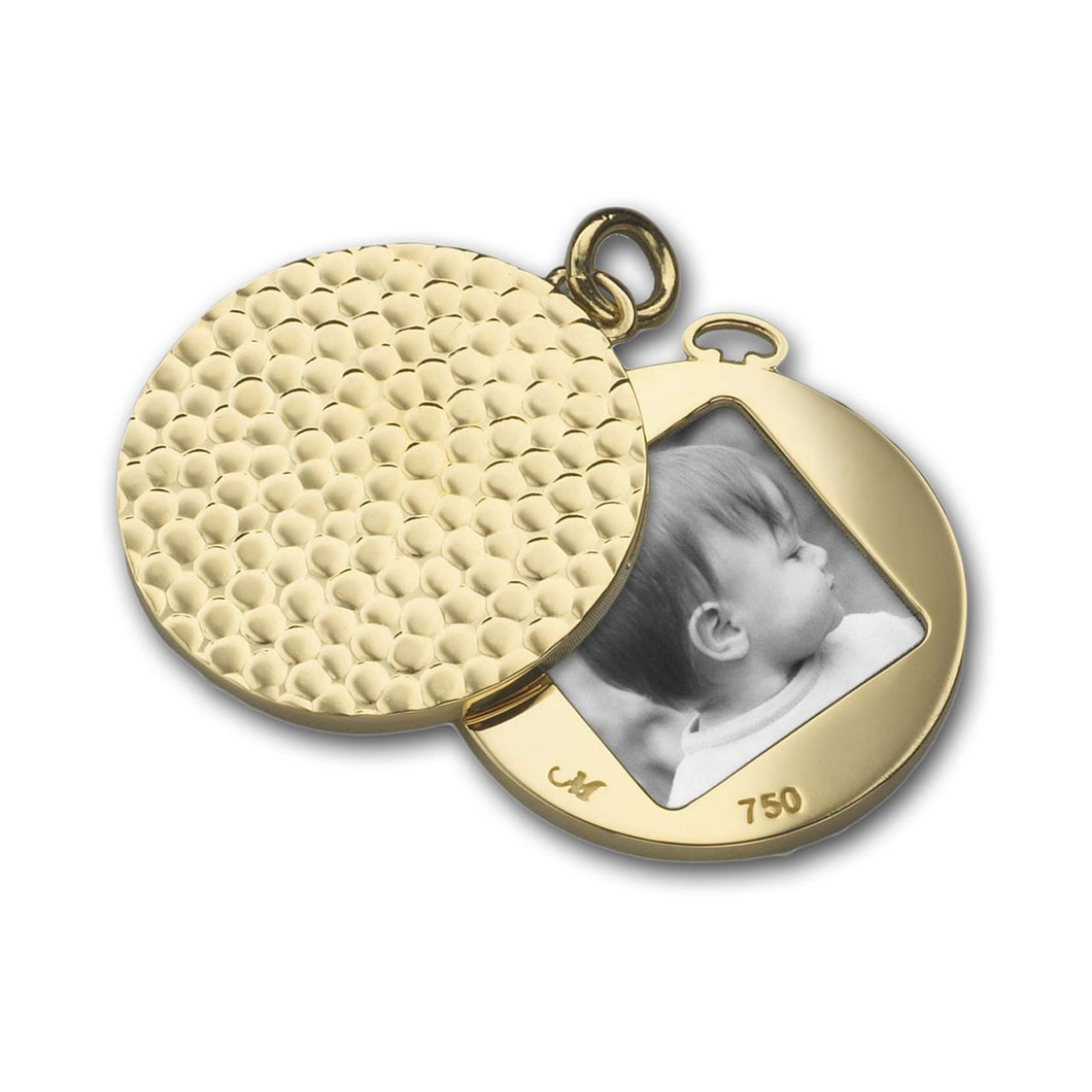 MONICA RICH KOSANN YELLOW GOLD IMAGE HAMMERED CHARM MONICA RICH KOSANN