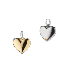 MONICA RICH KOSANN YELLOW GOLD & STERLING PETITE HEART OF GOLD CHARM MONICA RICH KOSANN