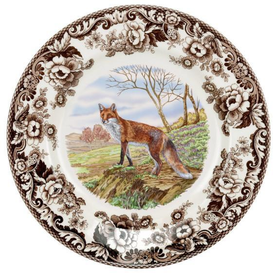 SPODE WOODLAND RED FOX DINNER PLATE MSRP $46.25