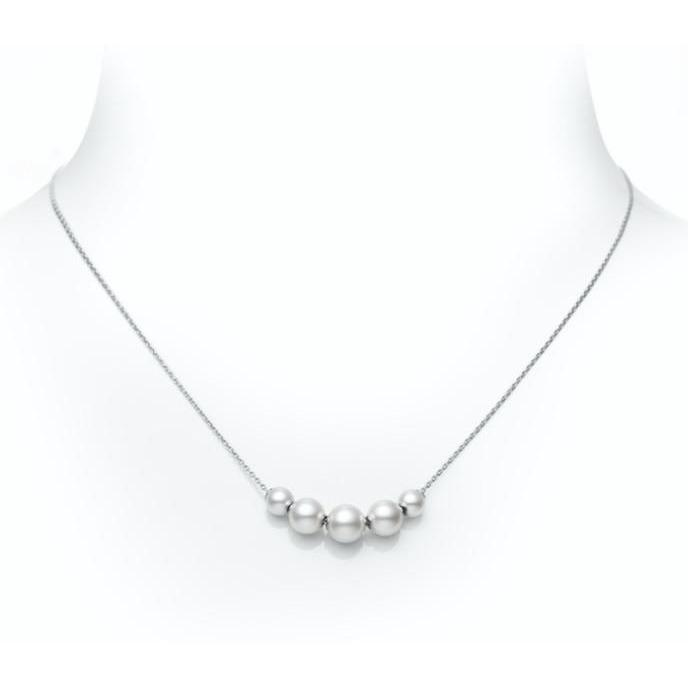 AKOYA PEARL PENDANT NECKLACE - 5.5MM, 7MM & 7.5MM A+ 18K WHITE GOLD MIKIMOTO