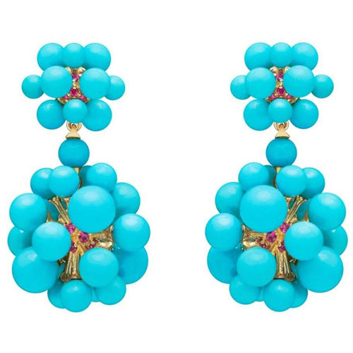 PAUL MORELLI TURQUOISE ORBIT DOUBLE DANGLE EARRING PAUL MORELLI