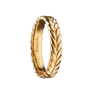 MONICA RICH KOSANN BREATHE YELLOW GOLD POESY RING MONICA RICH KOSANN