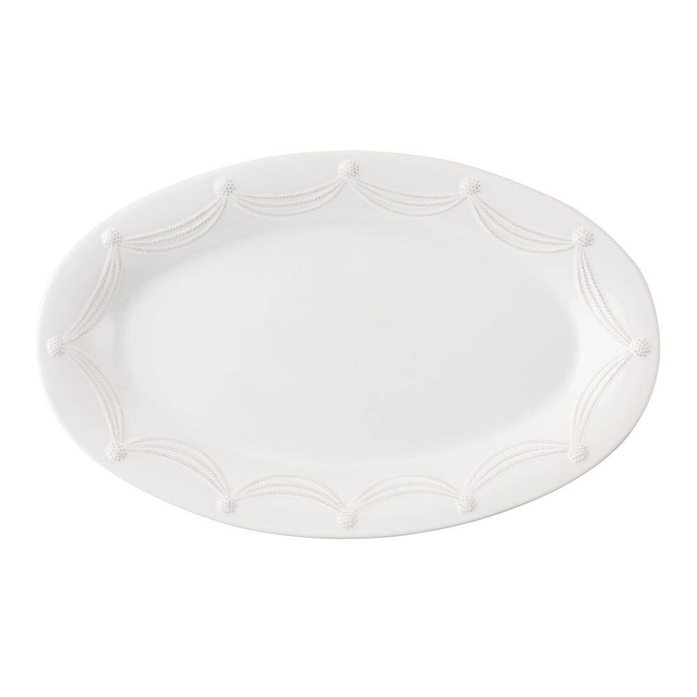 JULISKA BERRY & THREAD  WHITE LARGE OVAL PLATTER 22.5
