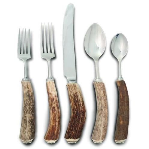 VAGABOND HOUSE NATURAL ANTLER 5PC PLACE SETTING NSO