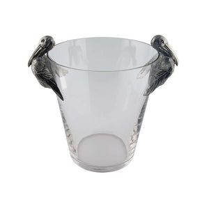 VAGABOND HOUSE PELICAN HANDLE GLASS ICE BUCKET