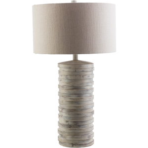 SURYA SULAK TABLE LAMP LIGHT GRAY SURYA