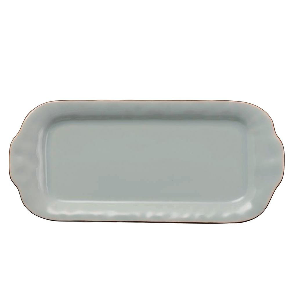 SKYROS CANTARIA SHEER BLUE LARGE RECTANGLE TRAY SKYROS