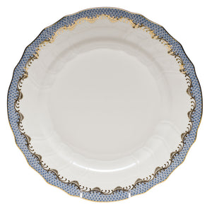 HEREND FISH SCALE LIGHT BLUE DINNER PLATE HEREND