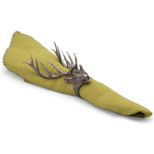 VAGABOND HOUSE NAPKIN RING ELK HEAD VAGABOND HOUSE