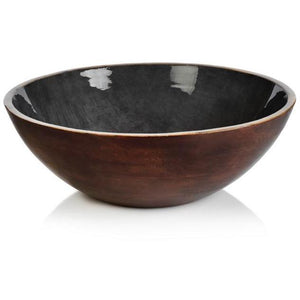ZODAX OASIS MANGO WOOD BOWL SEDONA  IN-6859 GRAY Zodax