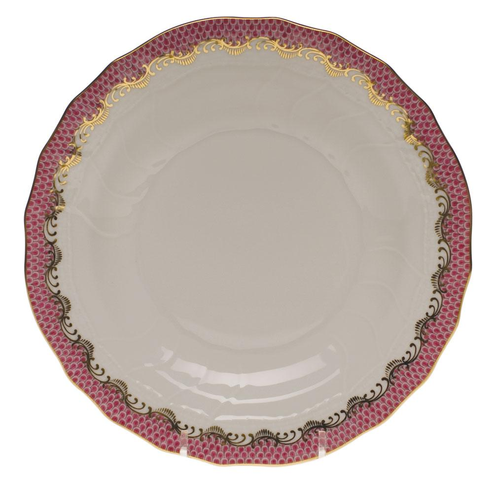 HEREND FISH SCALE RASPBERRY DESSERT PLATE HEREND