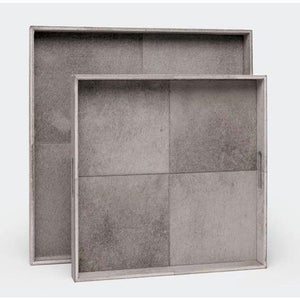 MADE GOODS RENARD TRAY SQUARE GRAY HAIR-ON-HIDE SMALL MADE GOODS