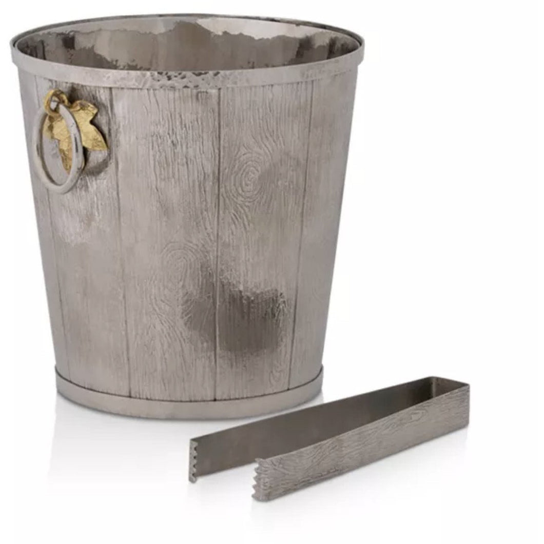 MICHAEL ARAM IVY & OAK BUCKET WITH TONGS MICHAEL ARAM