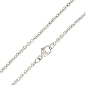 "HEATHER B. MOORE 2MM SILVER CHAIN 16"" HEATHER MOORE"