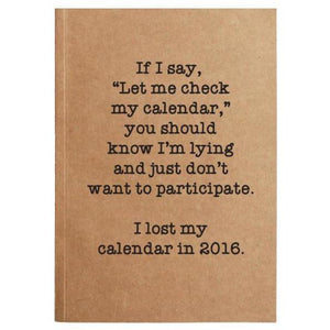 ELLEMBEE KRAFT CALENDAR NOTEBOOK ELLEMBEE HOME