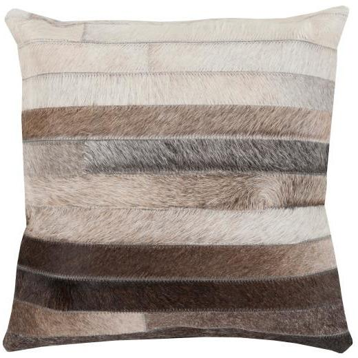 SURYA TRAIL PILLOW BLACK/MEDIUM GRAY/BEIGE/DARK BROWN 20X20 SURYA