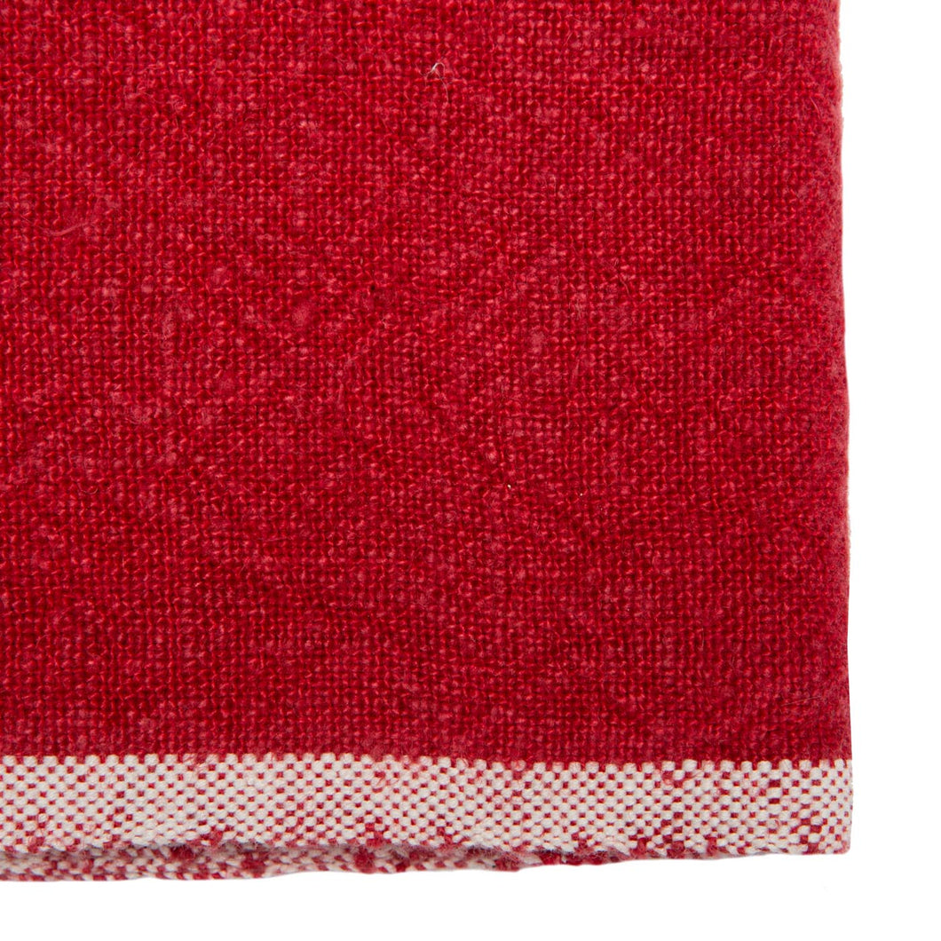 COULEUR NATURE CHUNKY LINEN NAPKIN RED COULEUR NATURE