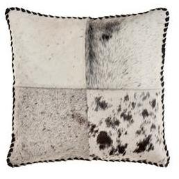 SURYA RANGER PILLOW CREAM/CHARCOAL/DARK BROWN 20X20 SURYA