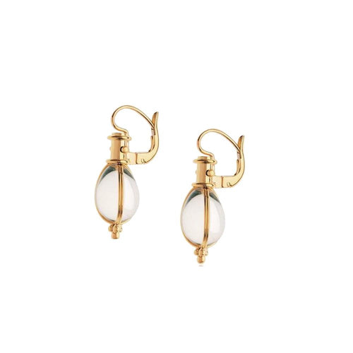 TSC 18K YELLOW GOLD CLASSIC AMULET EARRING E55800-E9 TEMPLE ST CLAIR