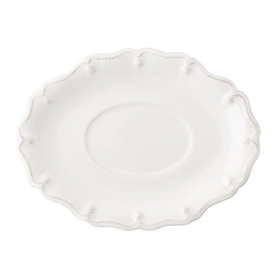 JULISKA BERY & THREAD WHITE SCALLOP SAUCE BOAT STAND JA51/W JULISKA