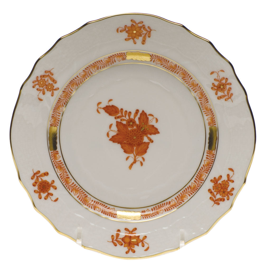 HEREND CHINESE BOUQUET RUST BREAD & BUTTER PLATE HEREND