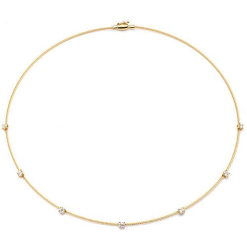SINGLE UNITY NECKLACE WITH 7 DIAMONDS PAUL MORELLI
