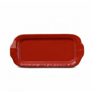 SKYROS CANTARIA POPPY RED LARGE RECTANGULAR TRAY SKYROS