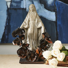 Load image into Gallery viewer, JAN BARBOGLIO SAINT THERESA STONE VIRGIN ON IRON STAND