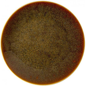 "ROYAL CROWN DERBY ART GLAZE CARAMEL ROUND PLATTER 13.5"" ROYAL CROWN DERBY"