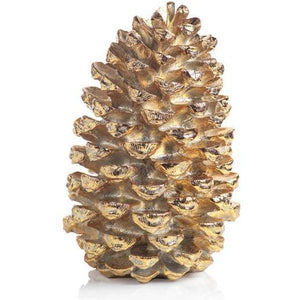 "ZODAX CH-5372 GOLD DECORATIVE PINE CONE 21"" Zodax"