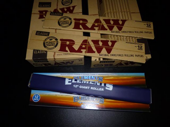 Giant 12inch RAW Papers and Giant Roller