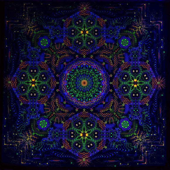 Cosmic Temple UV Backdrop